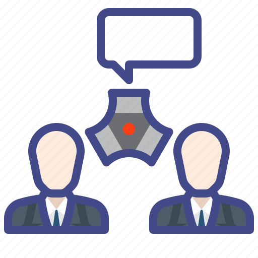 business, conference, meeting, people icon