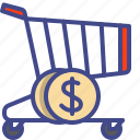 cart, instore, purchase, trolley icon