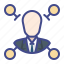 business, level, model, multilevel icon