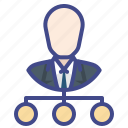 business, level, model, unilevel icon