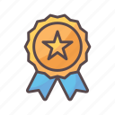 achievement, award, business, reward, star icon