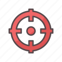aim, business, shot, target icon
