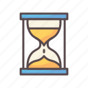 business, deadline, sand, sandtime icon