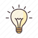 bulb, business, idea, solution icon