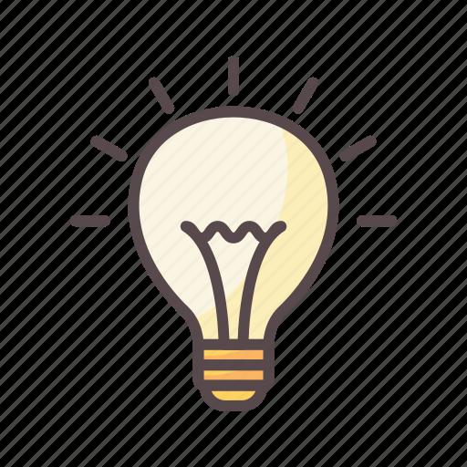 bulb, business, idea, solution icon
