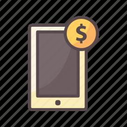 business, marketing, mobile marketing, money icon