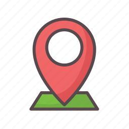 business, gps, here, location, navigation icon