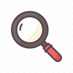 business, magnifier, magnifying glass, search, survey icon