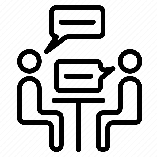 business, interview, meeting, people, teamwork icon