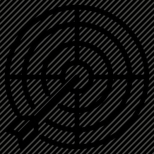 focus, market, target, vision icon