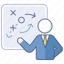 analysis, business, direction, plan, presentation, strategy icon