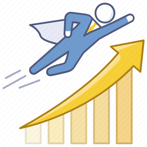 business, growth, profits, progress, rising, sales, success icon
