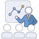 business, chart, conference, finance, meeting, presentation, sales icon