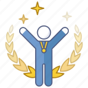 achievement, gold, medal, success, triumph, victory, winner icon