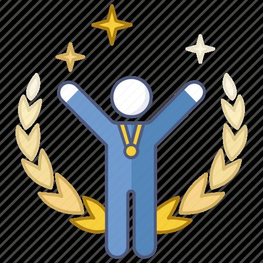 achievement, gold, medal, success, triumph, victory, winner icon