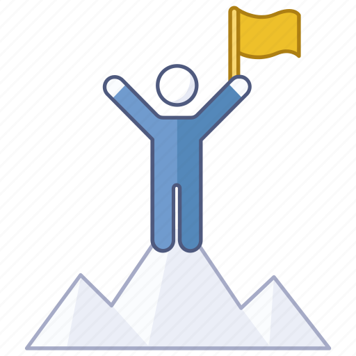 achieve, achievement, mountain, reach, success, summit, victory icon