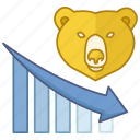 bear market, decreasing, economy, finance, financial, market, weak icon