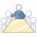 board, boardroom, company, investor, meeting, presentation icon