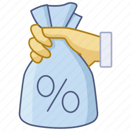 cut, dividend, interest, investment, rate, rebate, subsidy icon