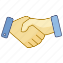 agreement, business, contract, friendship, hand, handshake, shake icon