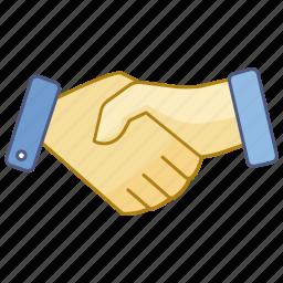agreement, business, contract, friendship, hand, handshake, shake icon