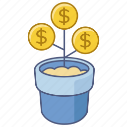 asset, cash, growth, interest, investment, money, tree icon