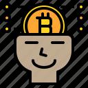 bitcoin, business, money, plan, schedule, shopping, social icon