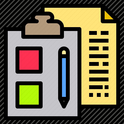 business, clipboard, money, plan, schedule, shopping, social icon