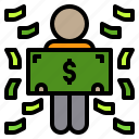business, money, plan, schedule, shopping, social, success icon