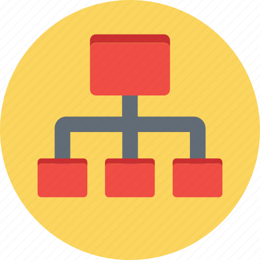 Flowchart, network, network hierarchy, sharing network, sitemap icon - Download on Iconfinder
