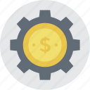 business development, business stability, dollar gearwheel, economic growth, money gear