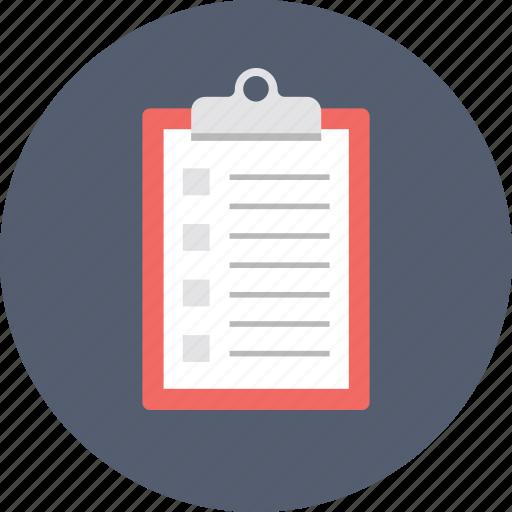 checklist, file, list, memo, plan icon