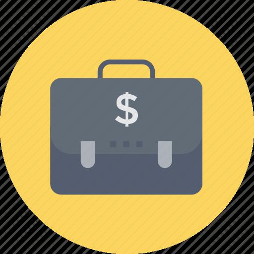 briefcase, business bag, money bag, office bag, portfolio bag icon