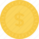 cash, dollar, dollar coin, finance, money icon