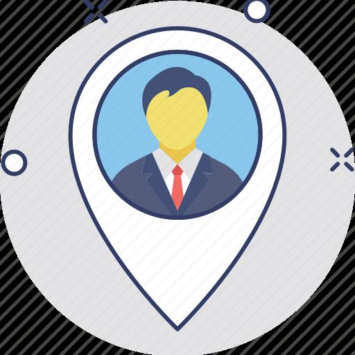 geolocalization, gps man, location positioning, man in locator, man locator icon