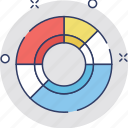 analytics, circle chart, data visualization, doughnut chart, pie chart icon