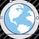 earth, globe, internet, planet, world map