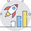 business startup, launch, rocket, spacecraft, startup icon
