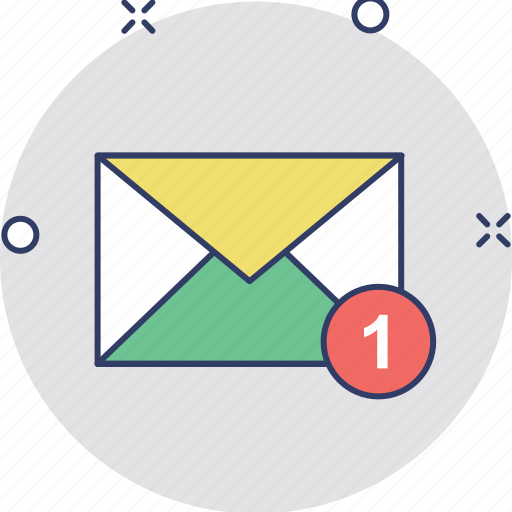 incoming email, received mail, received message, sms, text message icon