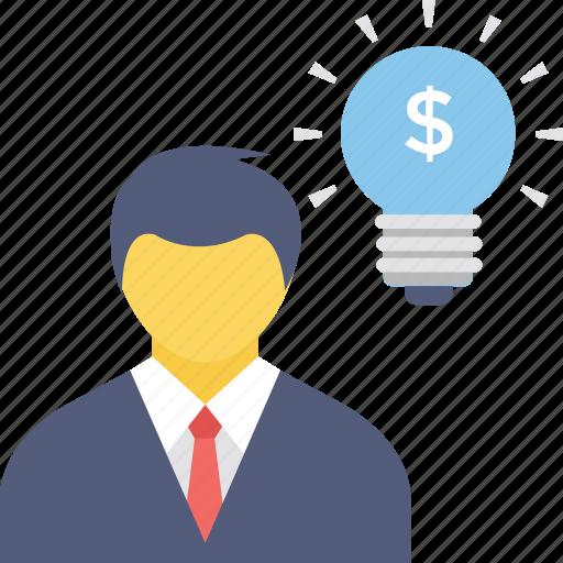 bulb idea, business minded, idea, innovative, intelligent icon