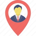 geolocalization, gps man, location positioning, man in locator, man locator icon