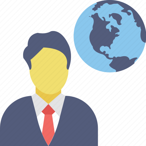 global businessman, international businessperson, successful businessman, universal business, worldwide entrepreneur icon