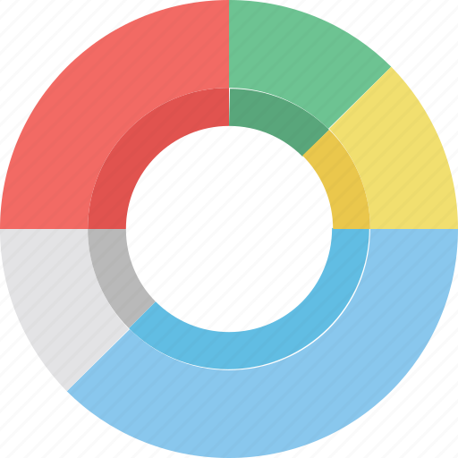 analytics, circle chart, data visualization, doughnut chart, pie chart icon