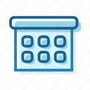 business, calendar, list, month, plan, schedule icon