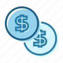 bill, business, coin, fees, finance, money, value icon