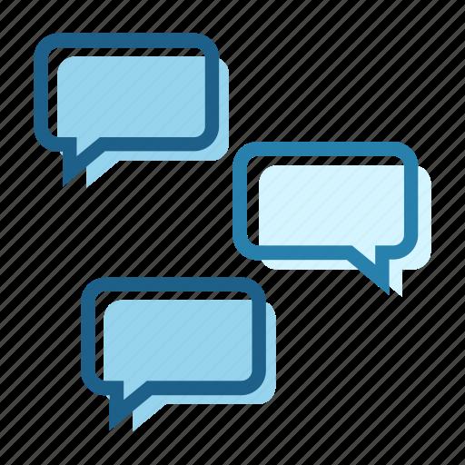 bubble, business, chat, conversation, digital, distance, long icon