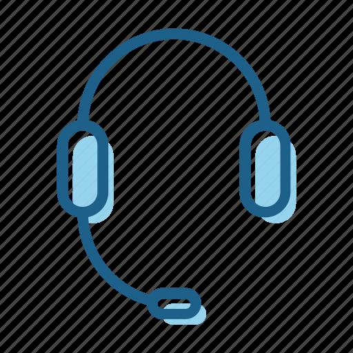 business, customer, headphones, mic, microphone, operator, speaker icon