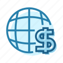 business, economy, finance, globe, money, rules, world icon