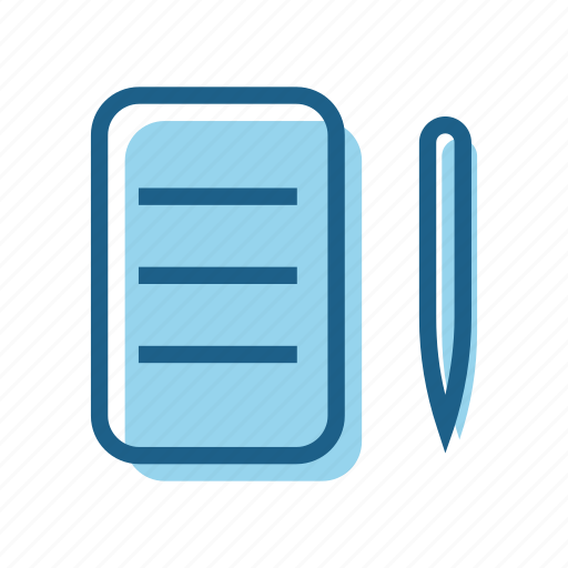 book, business, document, note, notes, pen, text icon