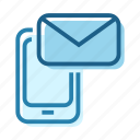 business, connect, digital, email, letter, phone, send icon